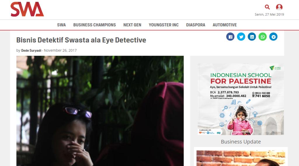 jessica detektif wanita terbaik di indonesia